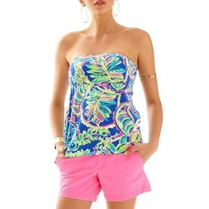 Lilly Pulitzer val tube top blue size XS